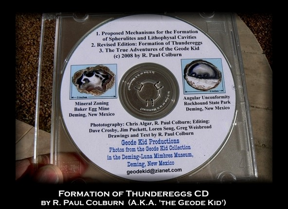Geodekid CD on thunderegg formation